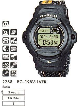 Casio BG-198V-1VER