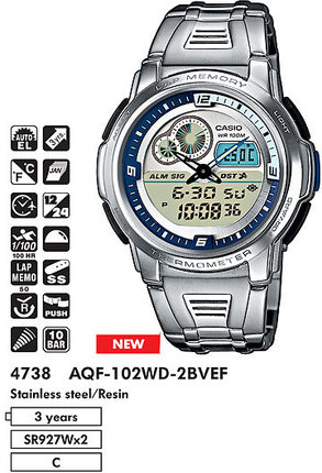 Casio AQF-102WD-2B