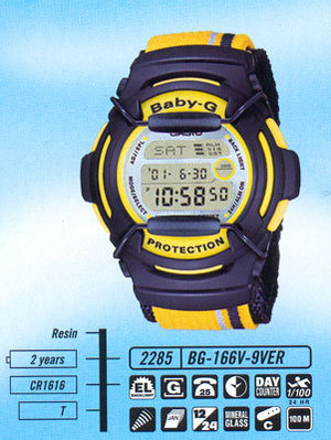 Casio BG-166V-9V