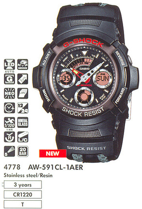 Casio AW-591CL-1A