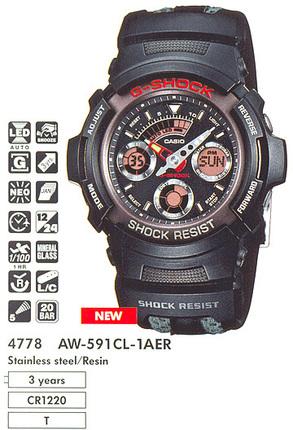 Casio AW-591CL-1A