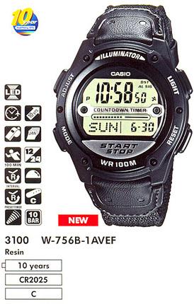 Casio W-756B-1A
