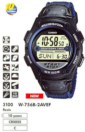 Casio W-756B-2A