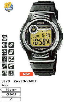 Casio W-213-9AVEF