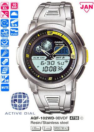 Casio AQF-102WD-9B