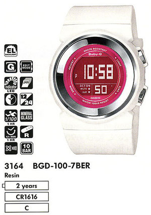 Casio BGD-100-7BER