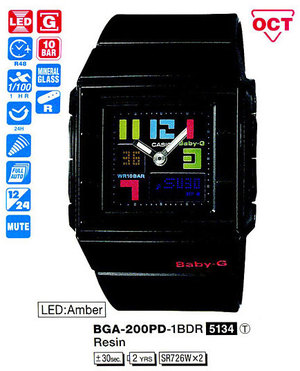 Casio BGA-200PD-1BER