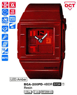 Casio BGA-200PD-4BER