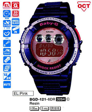 Casio BGD-121-6ER