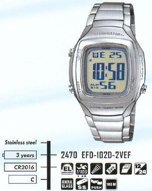 Casio EFD-102D-2
