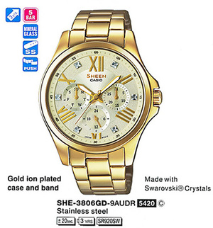 Casio SHE-3806GD-9AUER