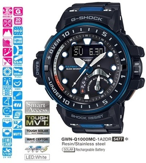 Casio GWN-Q1000MC-1A2ER