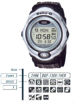 Годинник CASIO BGF-130-1VER BGF-130V-1VER.jpg — ДЕКА