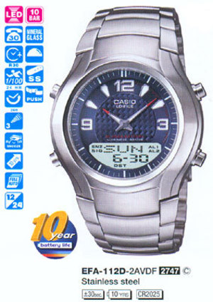 Casio EFA-112D-2AVEF