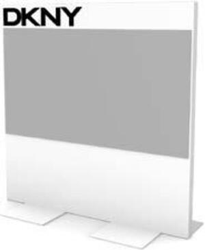 DKNY PLASTIC BACKBOARD DISPLAY