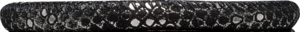 Christina Charms Cord, 30 cm, SILVER BLACK Leather