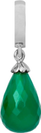 Christina Charms hangers - green onyx drop 610-S01Green