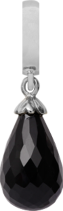 Christina Charms hangers - black onyx drop 610-S01Black