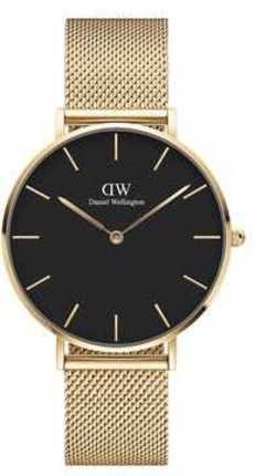 Часы Daniel Wellington DW00100345 Petite 36 Evergold G Black