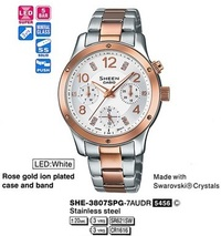 Часы CASIO SHE-3807D-7AUER - Дека