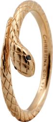 Кольцо CC 800-2.4.B/61 Diamond Snake goldpl - Дека