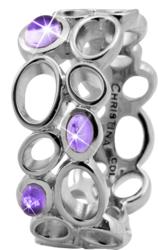 Кольцо CC 800-3.10.A/61 Big Amethyst Bubbles silver - ДЕКА