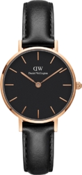 Часы Daniel Wellington DW00100224 Petite Sheffield RG Black 28 - Дека