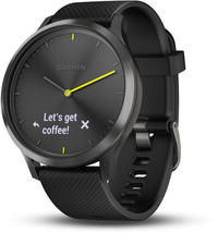 Смарт-часы Garmin Vivomove HR, E EU, Sport, Black-Black, L - Дека